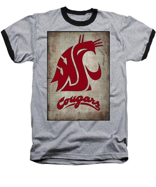 W S U Cougars Baseball T-Shirt by Daniel Hagerman