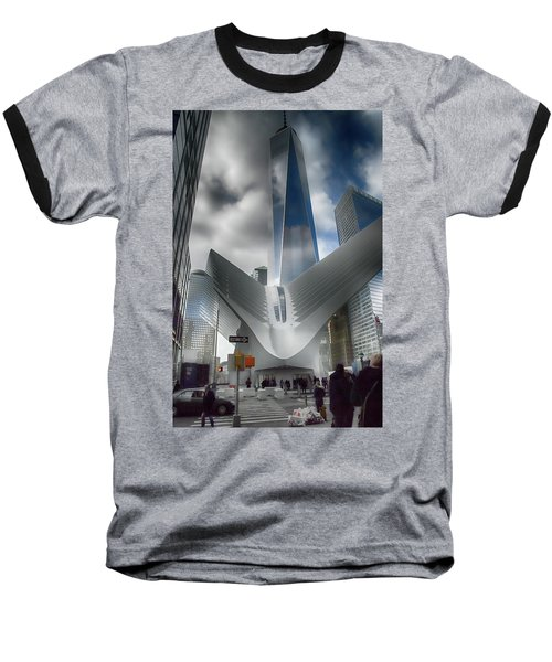 Wtc Oculus - Freedom Tower Baseball T-Shirt by Dyle Warren