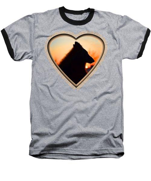 Wuffstar Happiness Is A Long Haired German Shepherd Heart Baseball T-Shirt