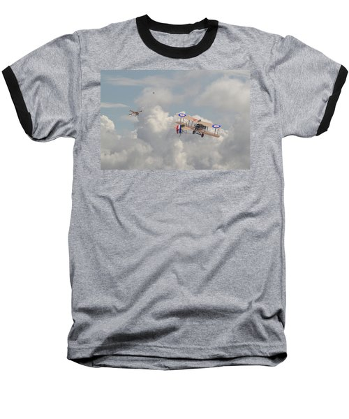 Baseball T-Shirt featuring the photograph Ww1 - The Fokker Scourge - Eindecker by Pat Speirs