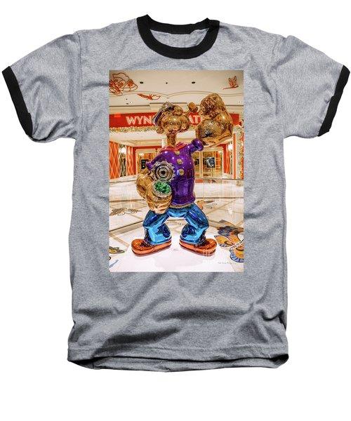 Wynn Popeye Statue By Jeff Koons Baseball T-Shirt