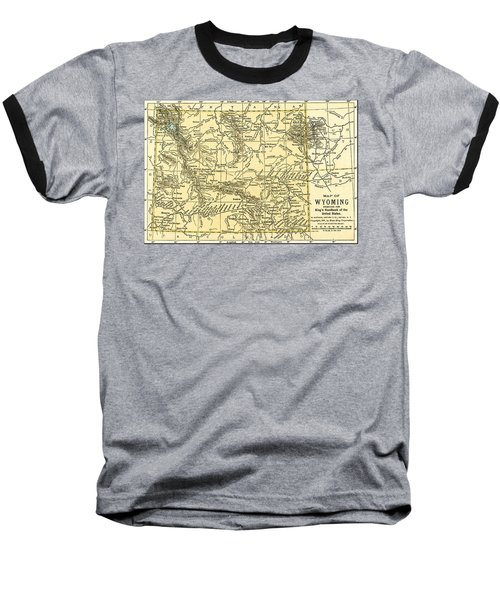 Wyoming Antique Map 1891 Baseball T-Shirt