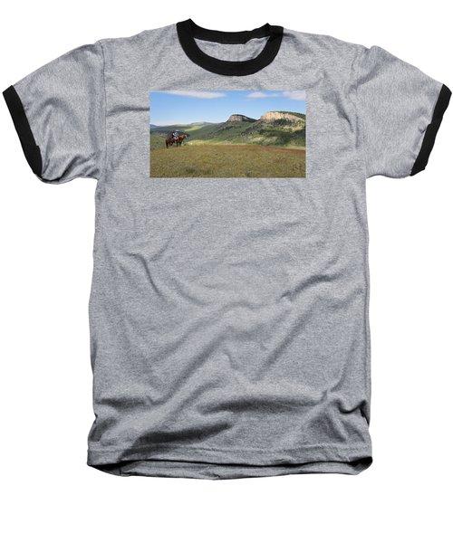 Wyoming Bluffs Baseball T-Shirt by Diane Bohna