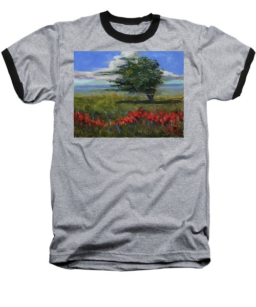 Baseball T-Shirt featuring the painting Wyoming Gentle Breeze by Billie Colson