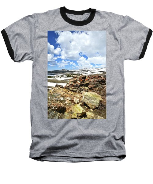 Wyoming's Big Horn Pass Baseball T-Shirt
