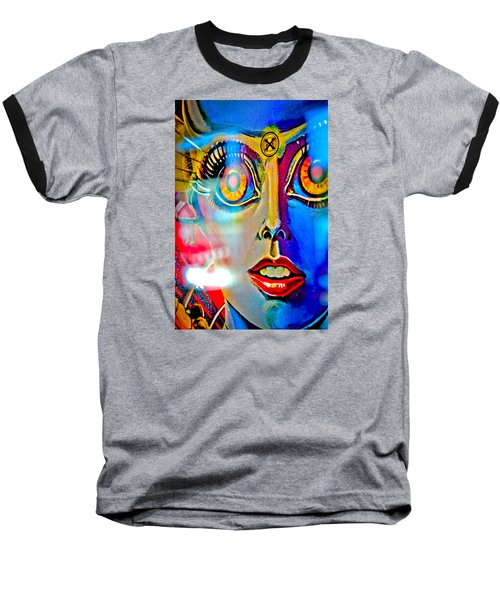 X Is For Xenon - Pinball Baseball T-Shirt by Colleen Kammerer