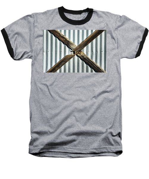 Baseball T-Shirt featuring the photograph X Marks The Spot by Karol Livote