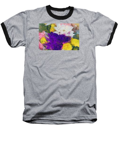Xtreme Floral Eleven Purple And White Baseball T-Shirt