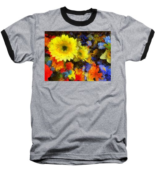 Xtreme Floral Seventeen Into The Depths Baseball T-Shirt by Spyder Webb