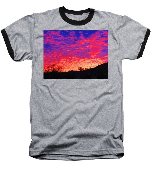 Y Cactus Sunset 1 Baseball T-Shirt