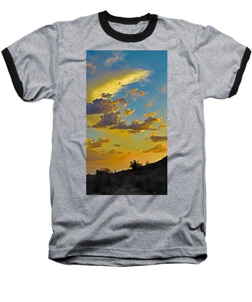 Y Cactus Sunset 10 Baseball T-Shirt