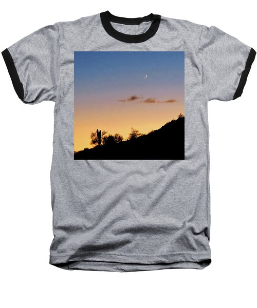 Y Cactus Sunset Moonrise Baseball T-Shirt