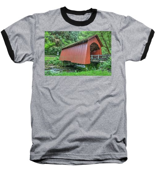 Yachats Covered Bridge Baseball T-Shirt