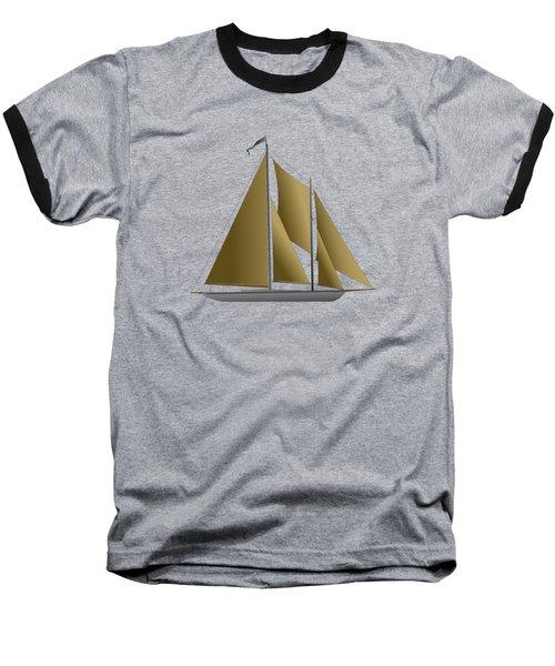 Yacht In Sunlight Baseball T-Shirt