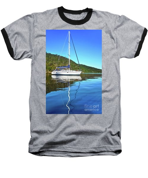 Baseball T-Shirt featuring the photograph Yacht Reflecting By Kaye Menner by Kaye Menner