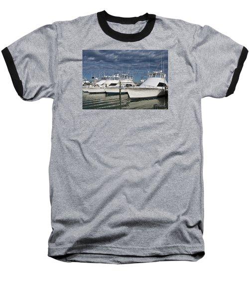 Yachts At The Dock Baseball T-Shirt