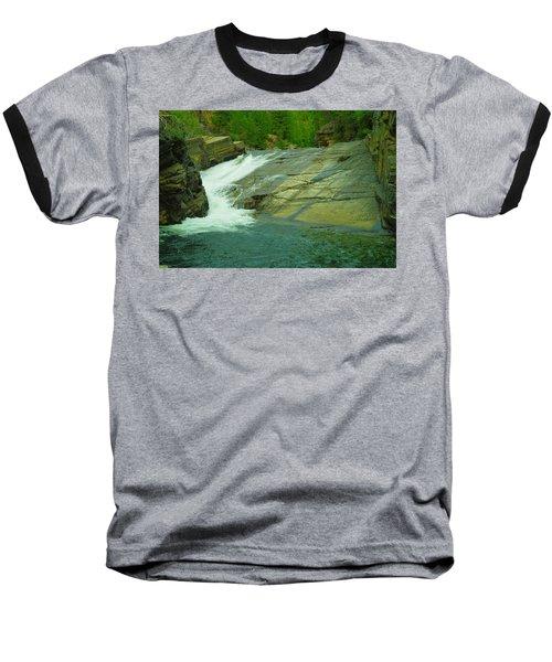 Yak Falls   Baseball T-Shirt by Jeff Swan