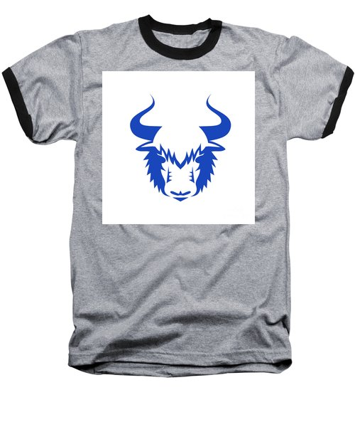 Yak Head Front Retro Baseball T-Shirt