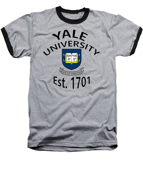 Baseball T-Shirt featuring the digital art Yale University Est 1701 by Movie Poster Prints