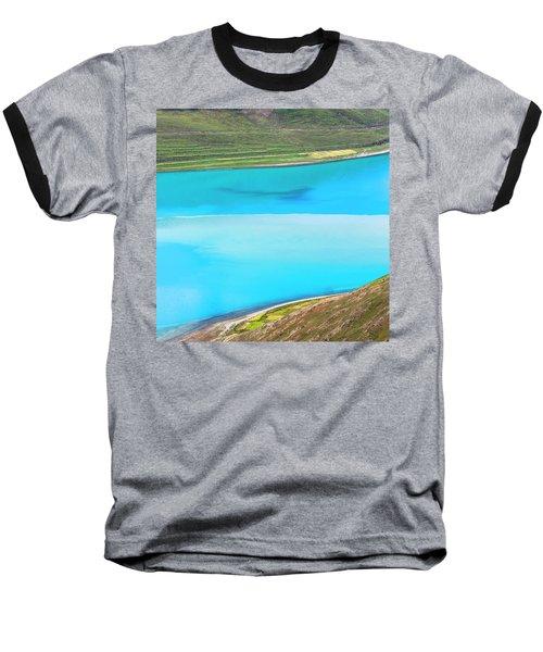 Baseball T-Shirt featuring the photograph Yamdrok Abstract 1, Tibet, 2007 by Hitendra SINKAR