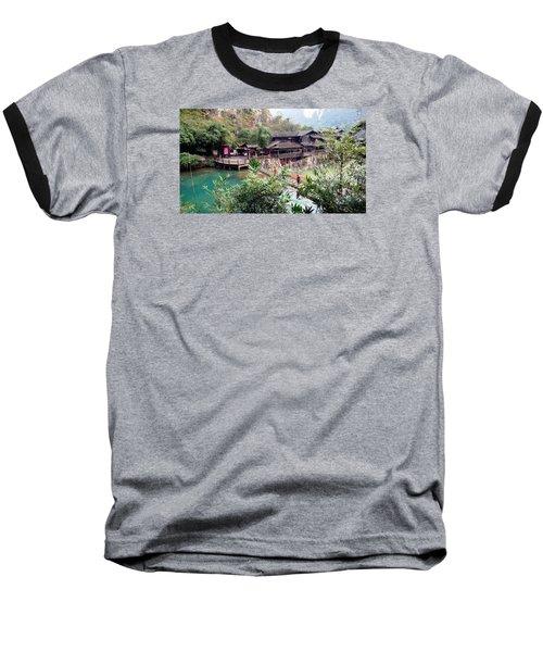 Baseball T-Shirt featuring the photograph Yangtze Village by Vicky Tarcau