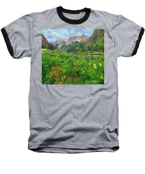 Yankee Boy Basin Baseball T-Shirt by Tim Fitzharris