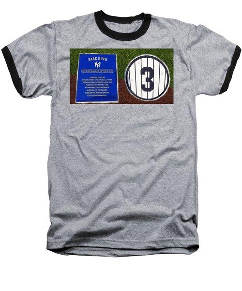 Yankee Legends Number 3 Baseball T-Shirt by David Lee Thompson