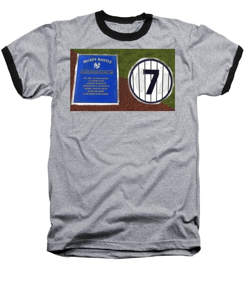 Yankee Legends Number 7 Baseball T-Shirt by David Lee Thompson
