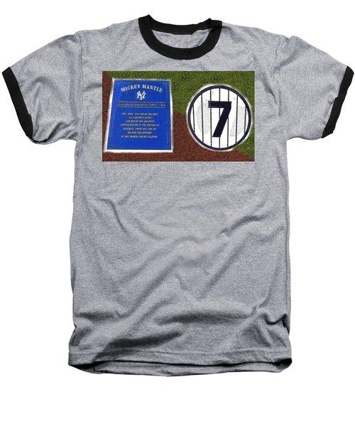Yankee Legends Number 7 Baseball T-Shirt by David Lee Thompson