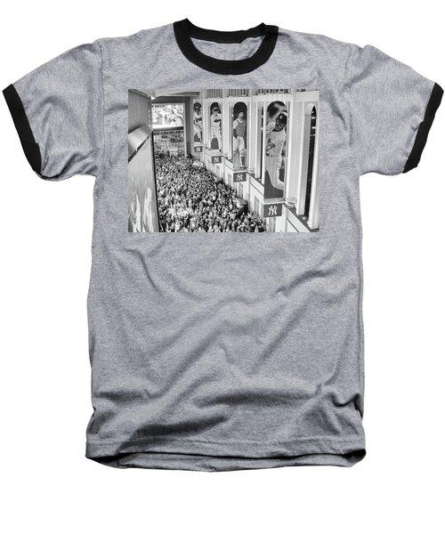 Yankee Stadium Great Hall 2009 World Series Black And White Baseball T-Shirt