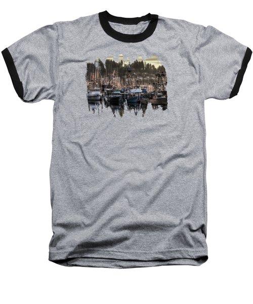 Baseball T-Shirt featuring the photograph Yaquina Bay Boat Basin At Dawn by Thom Zehrfeld