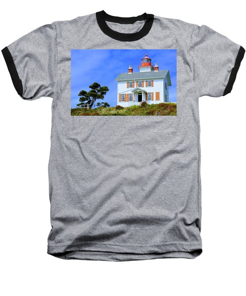Yaquina Bay Lighthouse Baseball T-Shirt