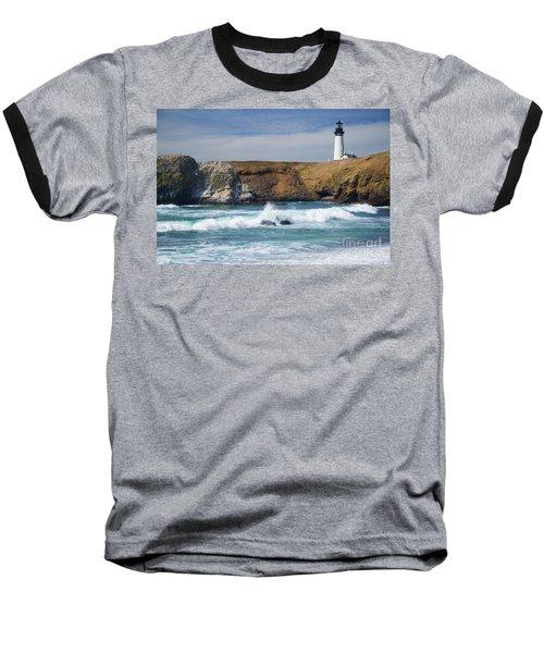 Yaquina Head Lighthouse On The Oregon Coast Baseball T-Shirt