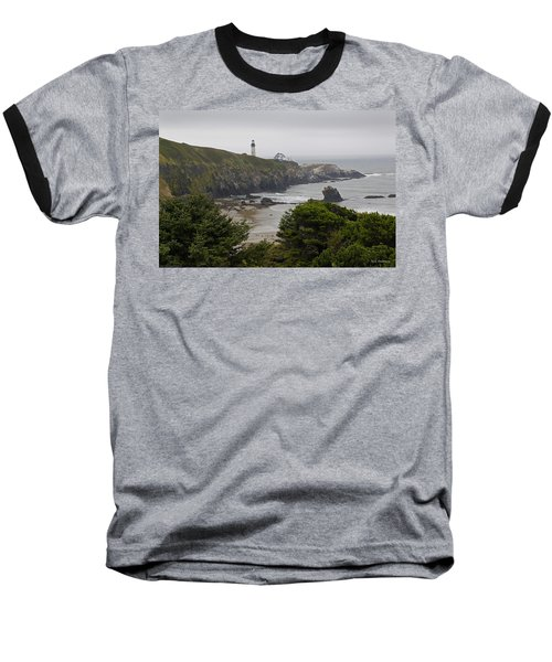 Yaquina Head Lighthouse View Baseball T-Shirt by Mick Anderson