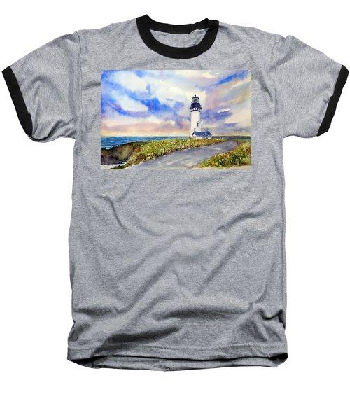 Yaquina Head Lighthouse - Springtime Baseball T-Shirt