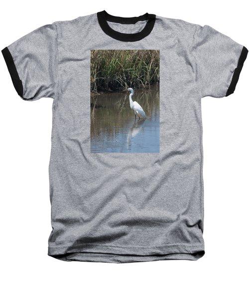 Yawkey Wildlife Refuge - Great White Egret II Baseball T-Shirt