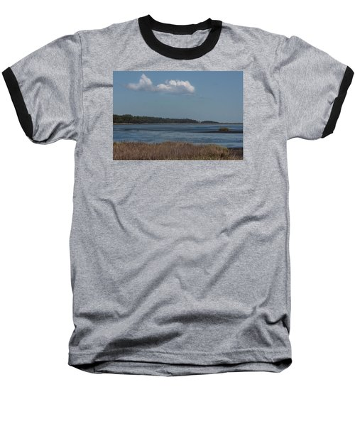 Yawkey Wildlife Reguge - View From The Causeway Baseball T-Shirt by Suzanne Gaff