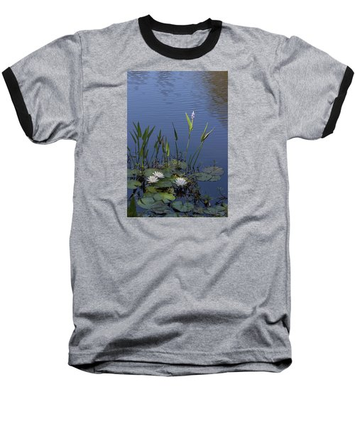 Yawkey Wildlife Reguge Water Lilies With Rare Plant Baseball T-Shirt by Suzanne Gaff