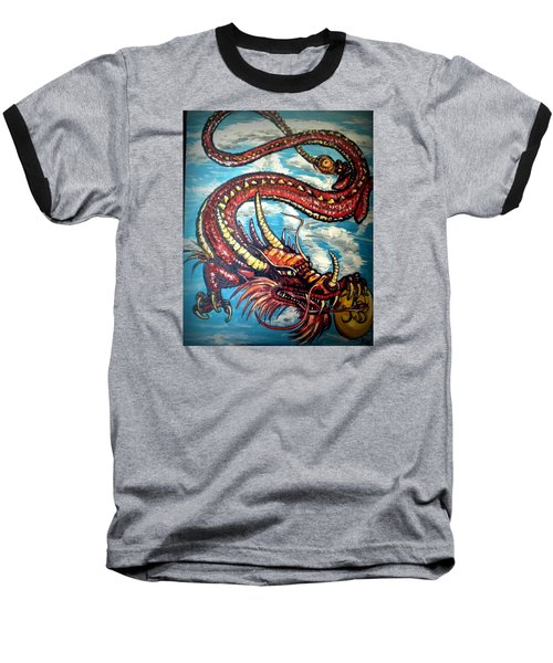 Year Of The Dragon Baseball T-Shirt by Alexandria Weaselwise Busen
