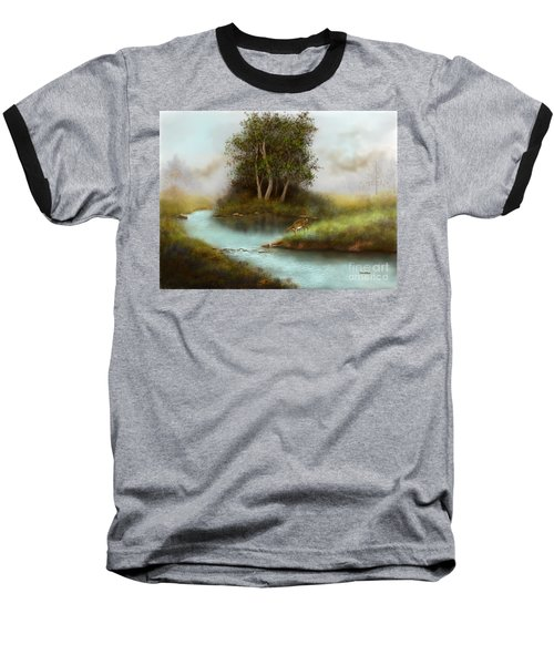 Baseball T-Shirt featuring the painting Yearling by Sena Wilson