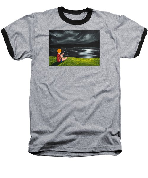 Yel No Catch A Kelpie Wi That Baseball T-Shirt by Scott Wilmot