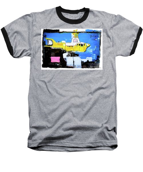 Baseball T-Shirt featuring the photograph Yello Sub Graffiti by Colleen Kammerer