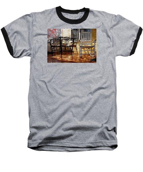 Yellow Ambiance Baseball T-Shirt by Betsy Zimmerli