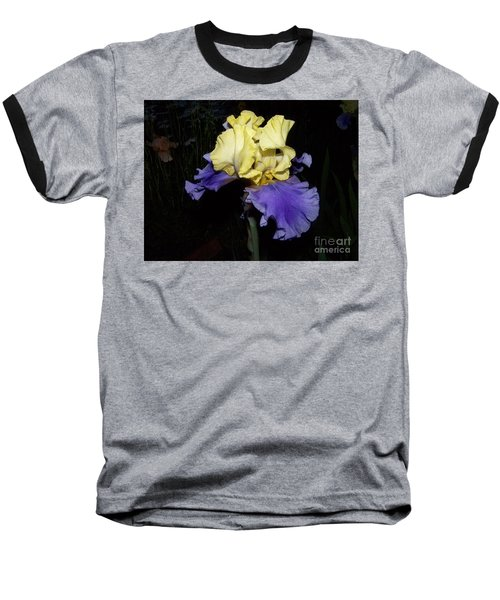 Yellow And Blue Iris Baseball T-Shirt