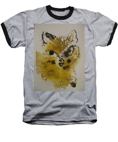 Yellow And Brown Cat Baseball T-Shirt