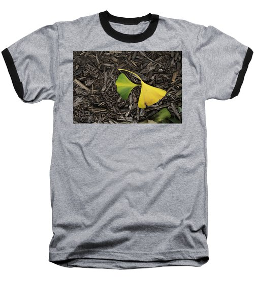 Yellow And Green Gingko Baseball T-Shirt