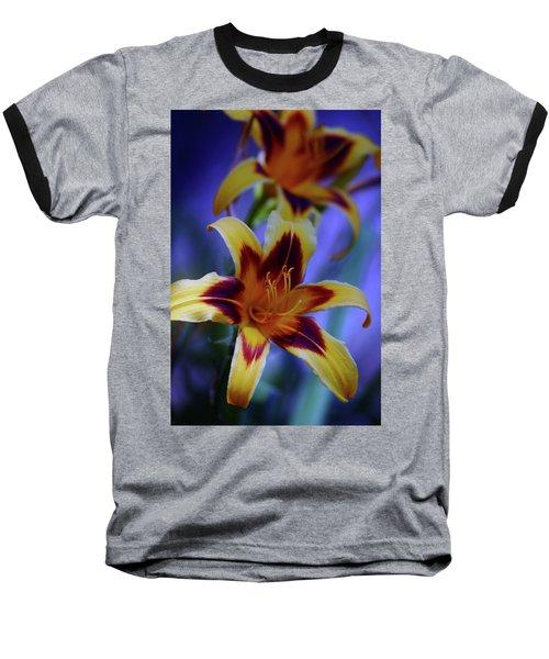 Yellow And Orange And Garnet Daylilies 1270 H_2 Baseball T-Shirt