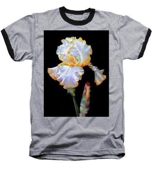 Yellow And White Iris Baseball T-Shirt