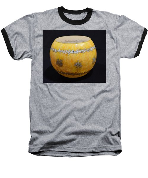 Yellow And White Vase Baseball T-Shirt