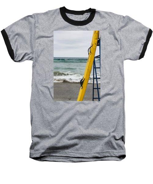 Yellow Surfboard Baseball T-Shirt
